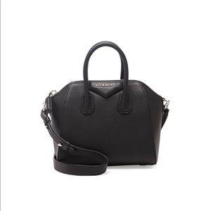 Givenchy Mini black antigona grained bag